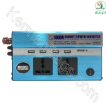 Inverter 1000W USB 4 Car with two full power sockets