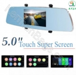 آینه مانیتور دار 5 اینچ به همراه دو دوربین ویژه