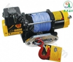 Synthetic rope winch 6500 pounds