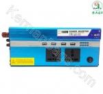 اینورتر 1500 وات USB 4 خودرو با دو پریز برق فول (ویژه)